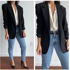 Vintage Savannah 100% wool black blazer jacket